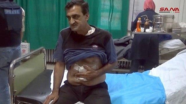 טיפול בפצועים בית חולים ב מחוז דרעא דרום סוריה ()
