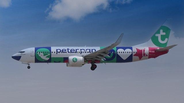 מטוס טראנסאוויה איירליינס  (צילום: דני שדה)