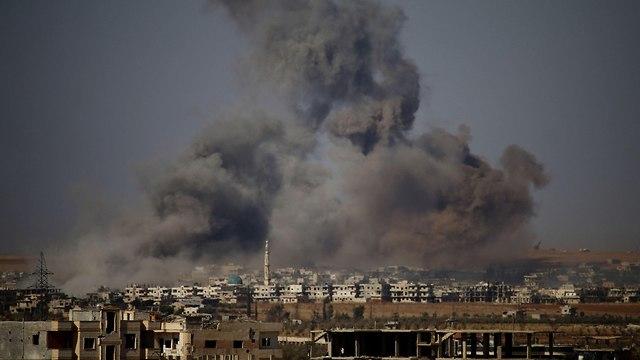 סוריה מבצע לכיבוש דרעא (צילום: AFP )