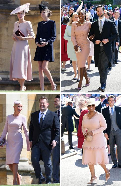 בחתונה של מייגן מרקל והנסיך הארי: שלל אורחות בוורוד, ובהן אופרה ווינפרי, סרינה וויליאמס וג'וליה קארי (צילום: Ian West, Chris Jackson/GettyimagesIL)