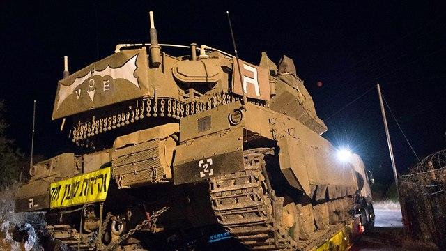 פריסה פריסת כוחות שריון ארטילריה טנק טנקים גבול רמת הגולן סוריה צה