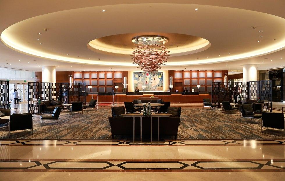 הקבלה במלון דיוויד אינטרקונטיננטל (צילום: אורי אקרמן)