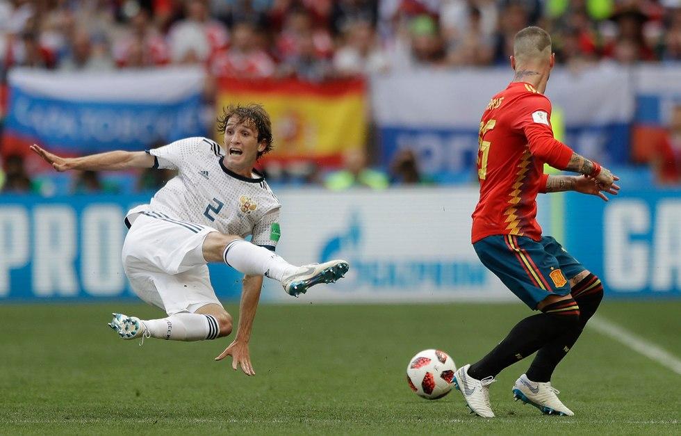Россия - Испания. Фото: АР
