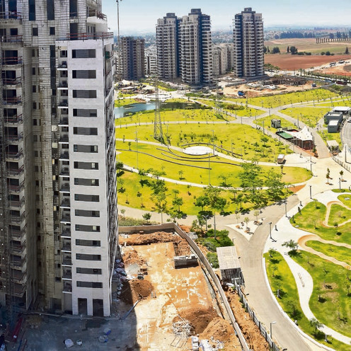 """חלומות פארק בחדרה. פוטנציאל גדול לעליית מחירים. יזם: שיכון ובינוי נדל""""ן   צילום: רוברטו ()"""