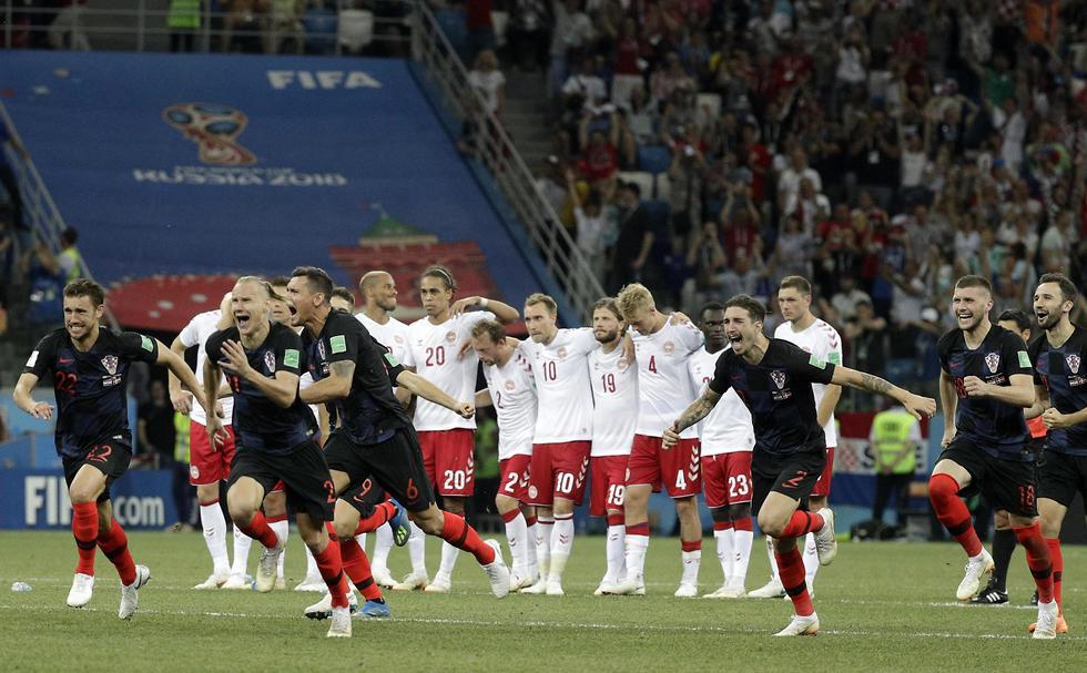 קרואטיה דנמרק (צילום: AP)