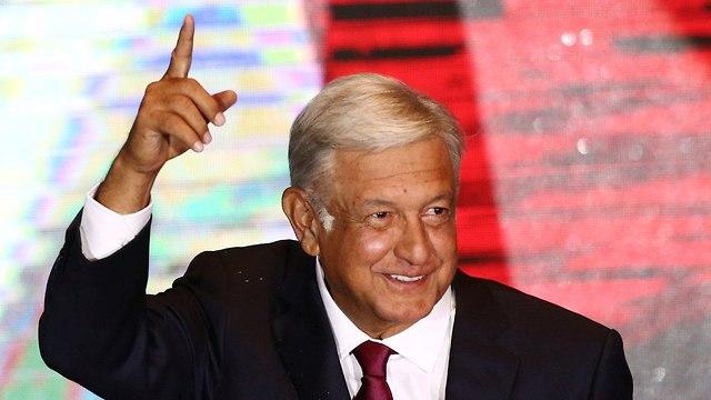 בחירות מקסיקו מכסיקו נאום ניצחון אנדרס מנואל לופס אוברדור (צילום: רויטרס)