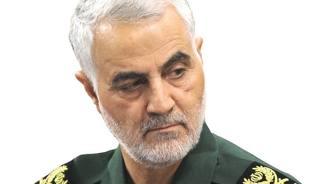 Soleimani in IRGC uniform. 'His subordinates really hate Israel and the Jews'  (Photo: AFP)