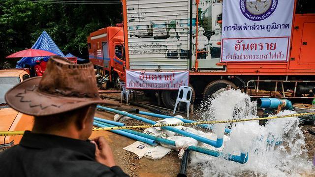 זירת חילוץ הנערים בתאילנד (צילום: gettyimages)