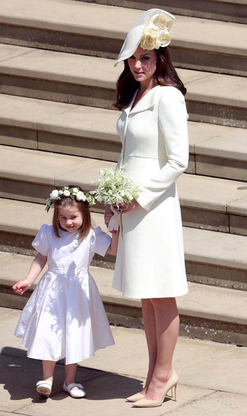 גם הגיסה קייט מידלטון מיחזרה לא מעט בגדים, כולל את השמלה שלבשה לחתונה של מייגן מרקל והנסיך הארי. לחצו על התמונה לכל הפרטים (צילום:  Andrew Matthews/GettyimagesIL)