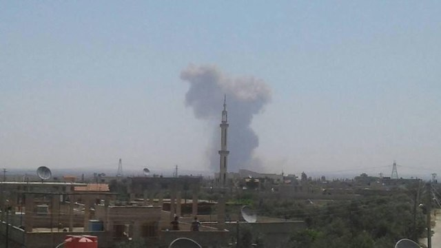 Arms depot explosion in Daraa
