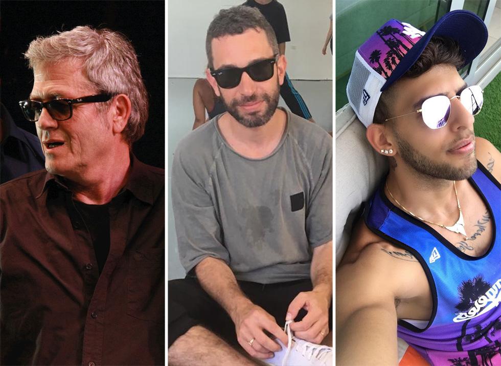 גם המוזיקאים הישראלים הבינו את כוחם של משקפי ריי באן. בן אל תבורי, שלומי שבן ושלמה ארצי (צילום שמאל: שאול גולן)