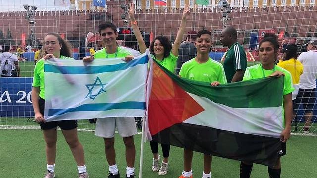 Peres Center delegation at the World Cup