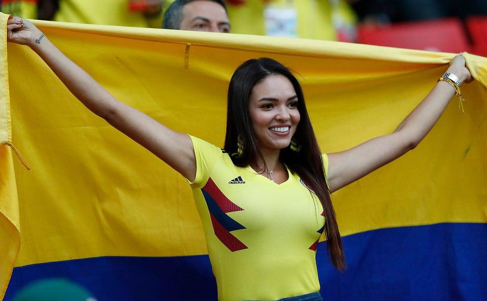 אוהדת קולומביה (צילום: AP)