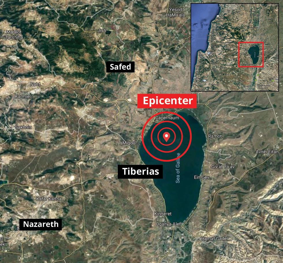Resultado de imagem para earthquake Israel