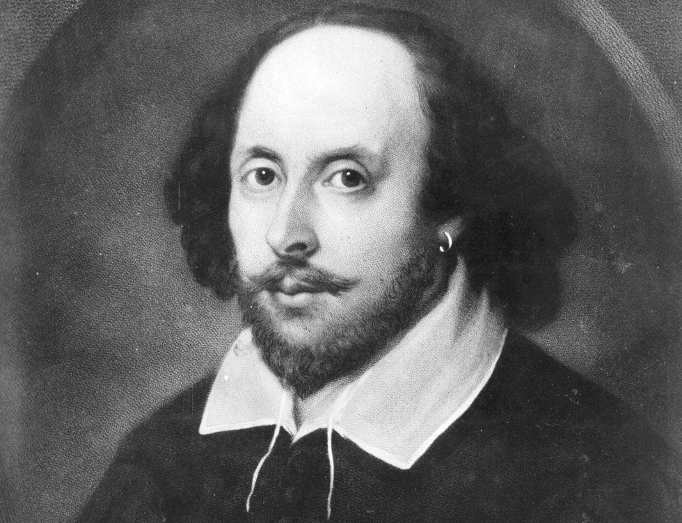 """וויליאם שייקספיר. מחזאי מתחרה טען שהוא """"עורב יומרני שמתקשט בנוצות לא לו"""" (צילום: GettyimagesIL)"""
