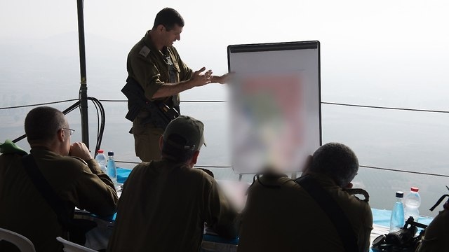 Eisenkot in a briefing in the north  (Photo: IDF's Spokesperson's Unit)