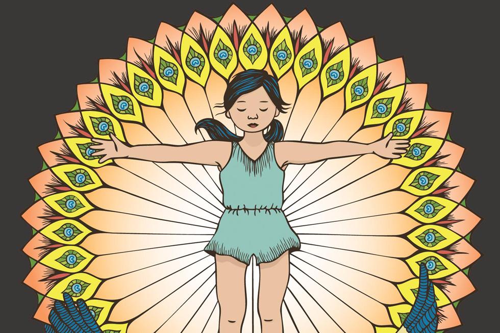 כרזות של ''אינקרבל'': נערות פראיות בצבעים כהים ועזים. הפוסטרים שתלויים בחדר של הבת שלכם יכולים להשפיע על האופן בו היא תתפוס את עצמה (איור: Inkerbell)