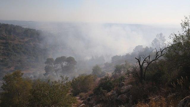Fire near Beit Meir (Photo: Amit Shabi)