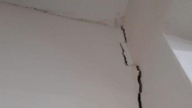 """Ущерб от землетрясения в школе """"Кадури"""""""