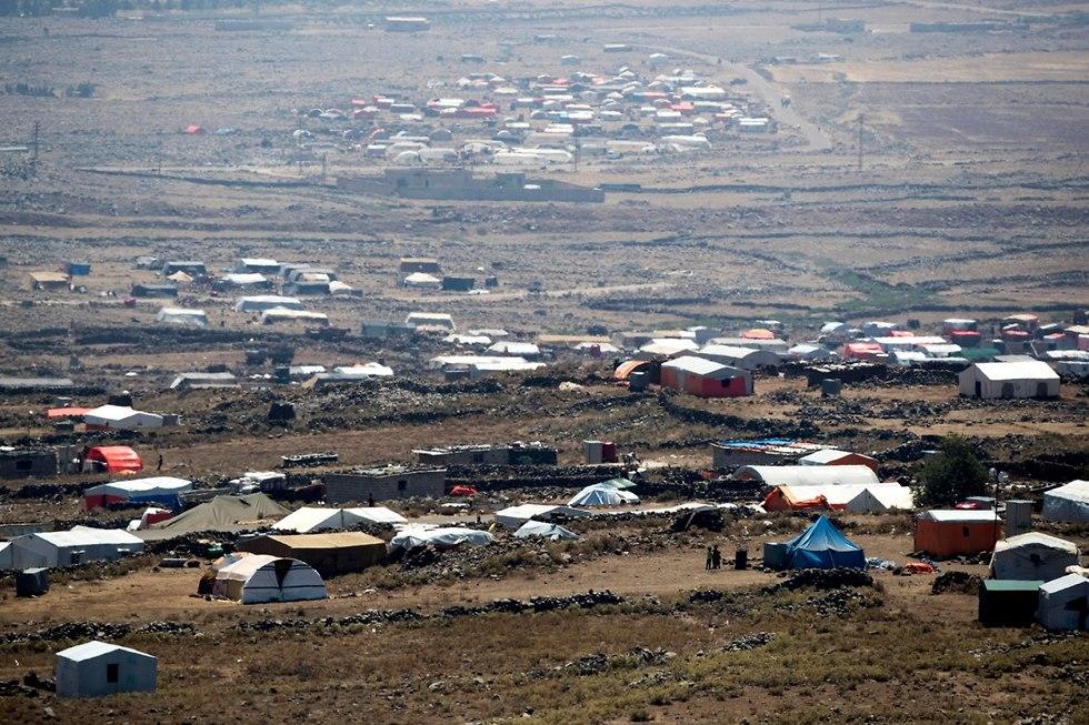 Refugee camp for Syrians fleeing Deraa (Photo: EPA)