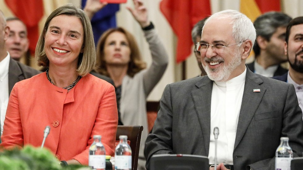 Federica Mogherini with Zarif (Photo: MCT)