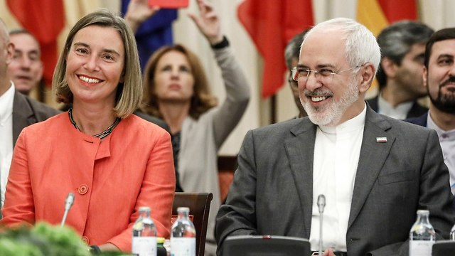 EU Foreign Policy chief Mogherini and Iranian Foreign Minister Zarif (Photo: MCT)
