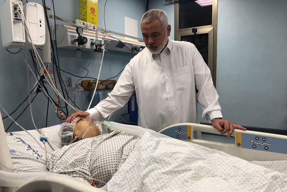 Haniyeh rend visite à sa nièce à l'hôpital