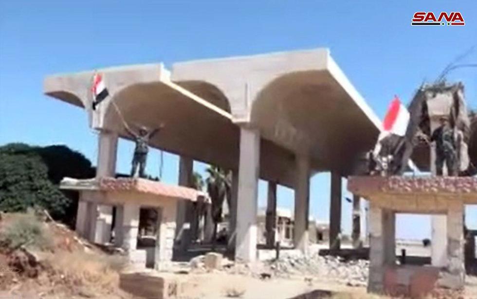 Assad's forces at the Syria-Jordan border