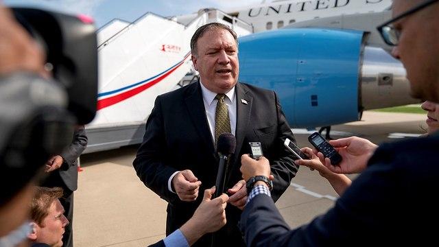 מזכיר המדינה האמריקני מייק פומפאו אחרי ביקור ב צפון קוריאה (צילום: רויטרס)
