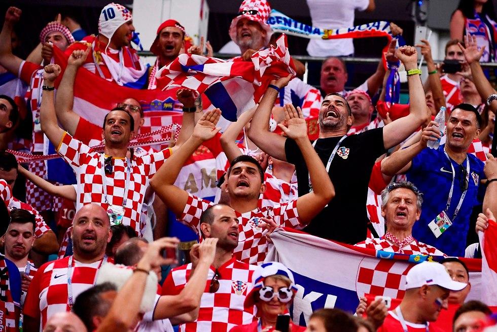 אוהדי נבחרת קרואטיה (צילום: AFP)