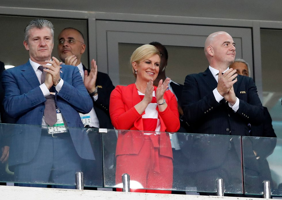 קולינדה קרבאר קיטנוביץ' נשיאת קרואטיה דאבור סוקר ג'אני אינפנטינו נשיא פיפ