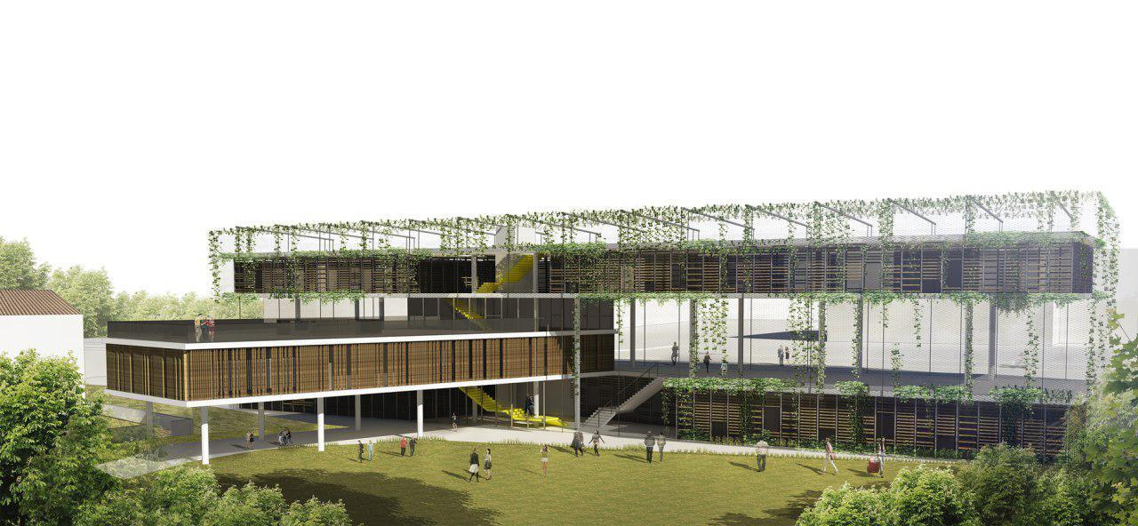 הדמיית המרכז הקהילתי החדש ברמת אביב (קרדיט: קיסלוב קיי אדריכלים)
