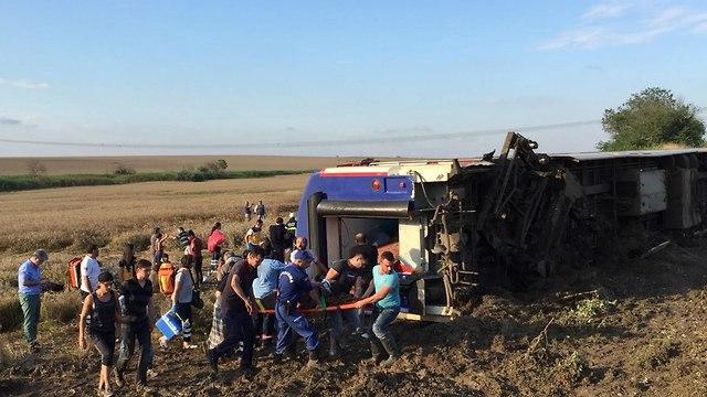 תאונת רכבת בטקירדא טורקיה (צילום: EPA)