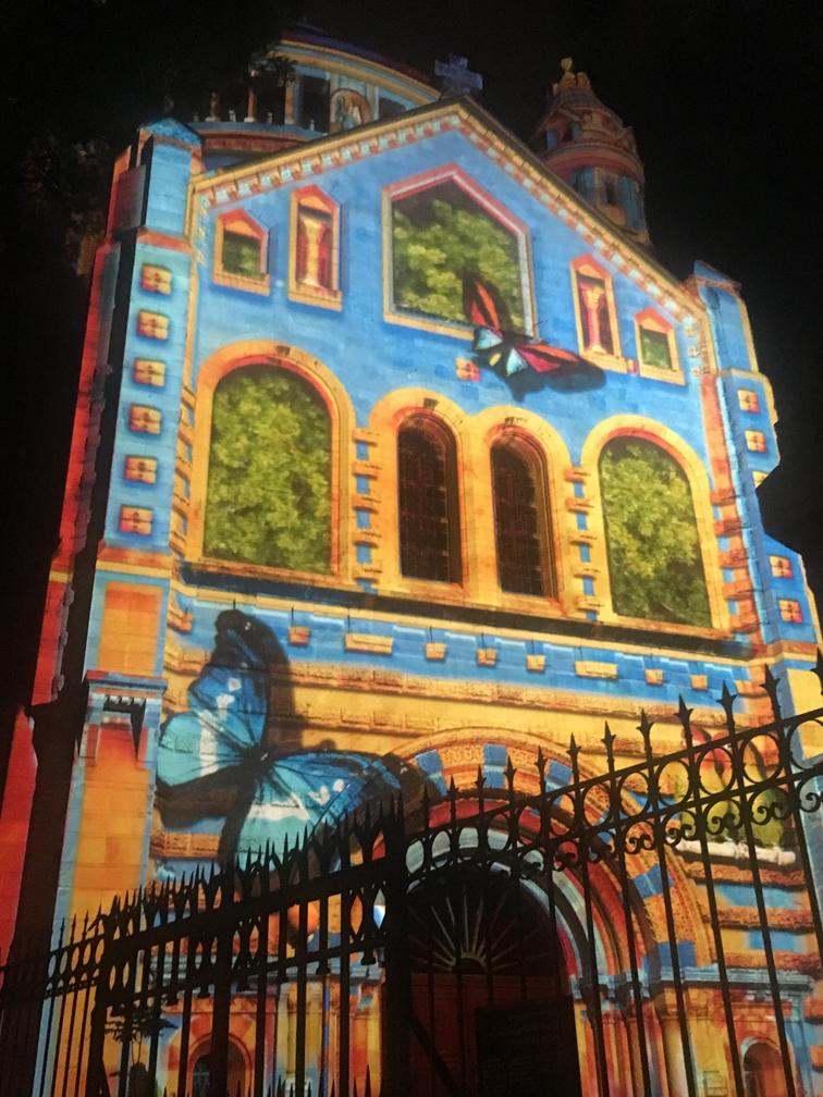 כנסיית הדורמיציון בפסטיבל האור (צילום: גלעד כרמלי)