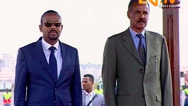 מנהיגי אתיופיה אריתריאה אריתראה פגישה היסטורית הסכם שלום (צילום: AP)