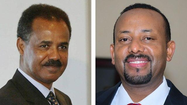 מנהיגי אתיופיה אריתריאה אריתראה פגישה היסטורית הסכם שלום (צילום: EPA)