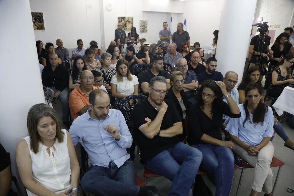 מסיבת עיתונאים אסון השיטפוון בגבעתיים (צילום: שאול גולן)