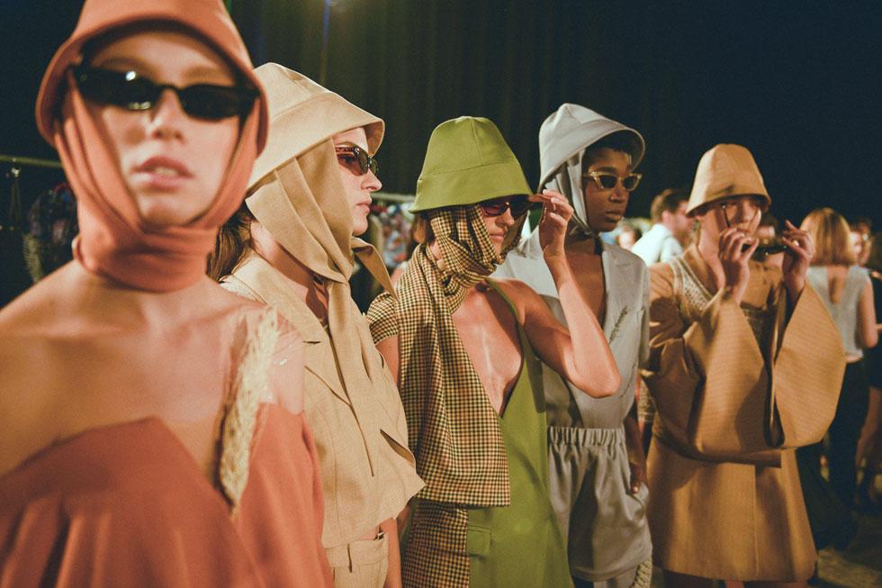 מאיה הכהן בשנקר. מכירה מיוחדת של פריטים נבחרים מקולקציות הגמר של בוגרי המחלקה לעיצוב אופנה  (צילום: ערן לוי)