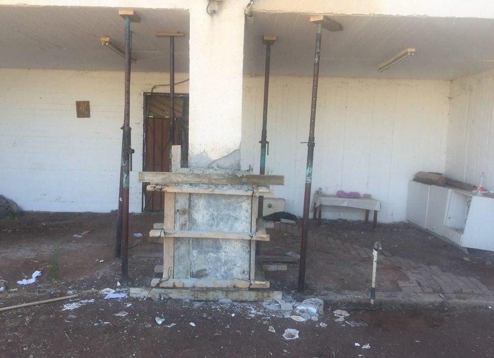 נזק שנגרם למבנים בטבריה כתוצאה מרעידות האדמה (צילום: רועי רובינשטיין)