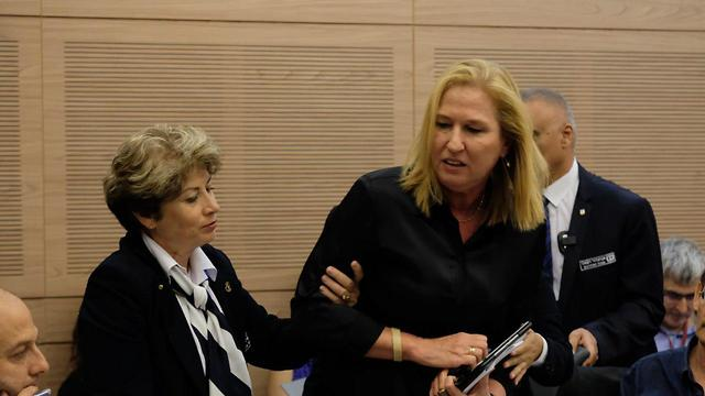 Livni removed from the discussion (Photo: Yoav Dudkevitch)