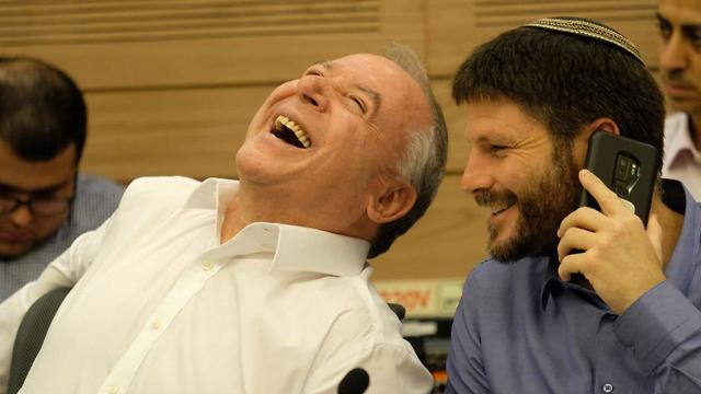 Amsalem and Smotrich at the discussion (Photo: Yoav Dudkevitch)