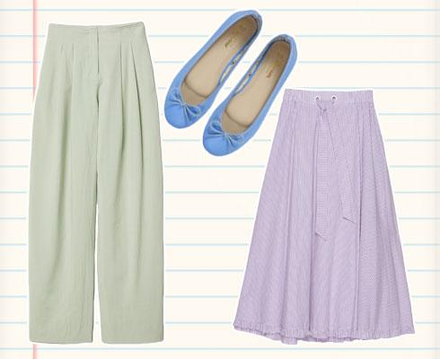 חצאית Northern Star,  מחיר 640 שקל; מכנסיים H&M, מחיר 249 שקל; נעליים מרשה בלרינה, 99.90 שקל (צילום: הנס מוריץ, גלעד בר שלו, מרשה בלרינה)