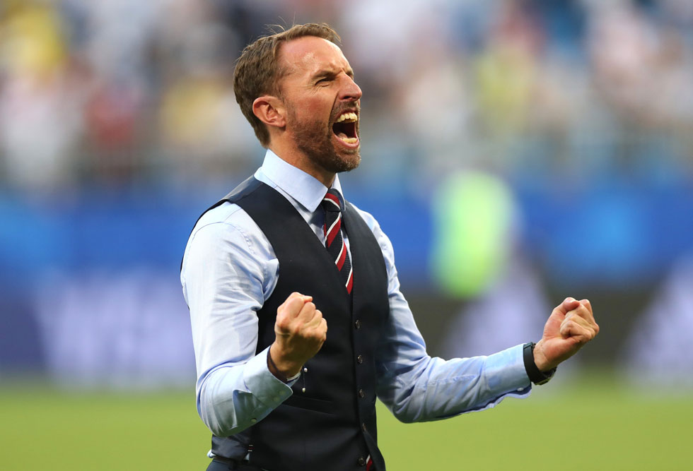 המתלבש הטוב ביותר במשחקי המונדיאל. מאמן נבחרת אנגליה גארת' סאות'גייט (צילום: Alex Morton/GettyimagesIL)
