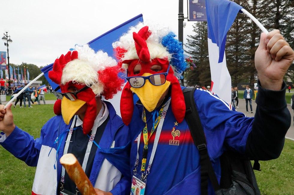 אוהדי נבחרת צרפת (צילום: EPA)