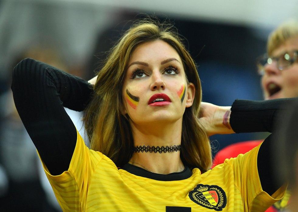 אוהדת נבחרת בלגיה (צילום: רויטרס)