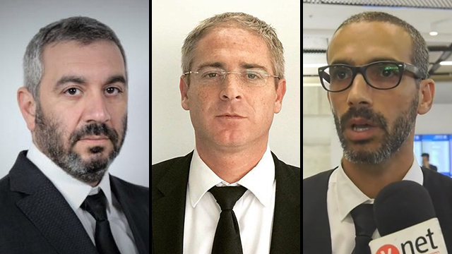 עורכי הדין שחר חצרוני, תמיר סננס ויהלי שפרלינג (צילום: מתן טורקיה)