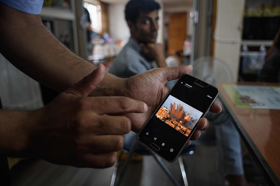 מבקשי מקלט מ תימן במלון ב ג'ג'ו דרום קוריאה (צילום: AFP)