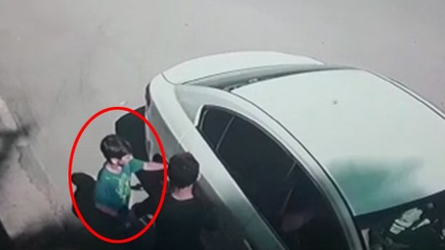 Похищение Карима Джумхура. Кадр видеозаписи
