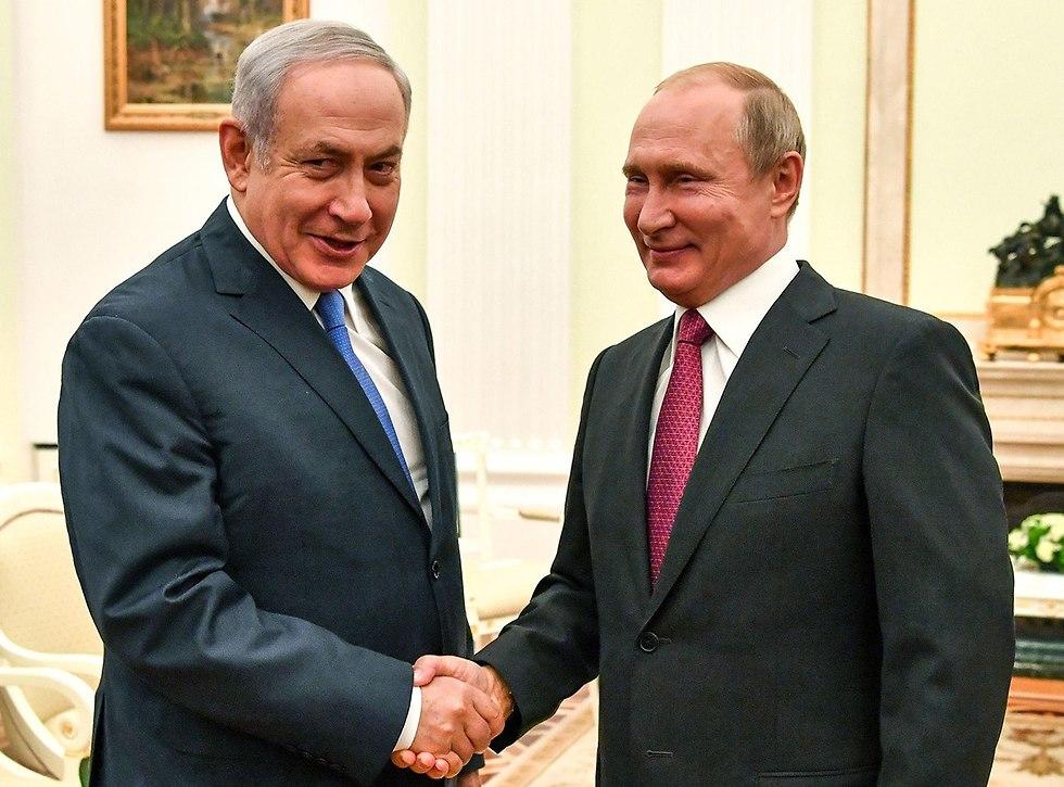 Netahuyahu meeting Putin in Moscow (Photo: AFP)