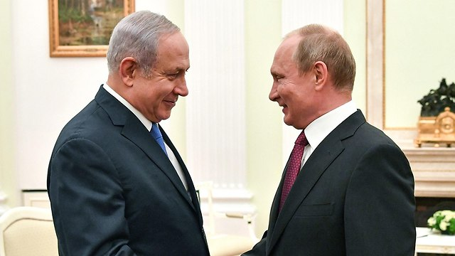 Netanyahu and Putin in Moscow  (Photo: AFP)